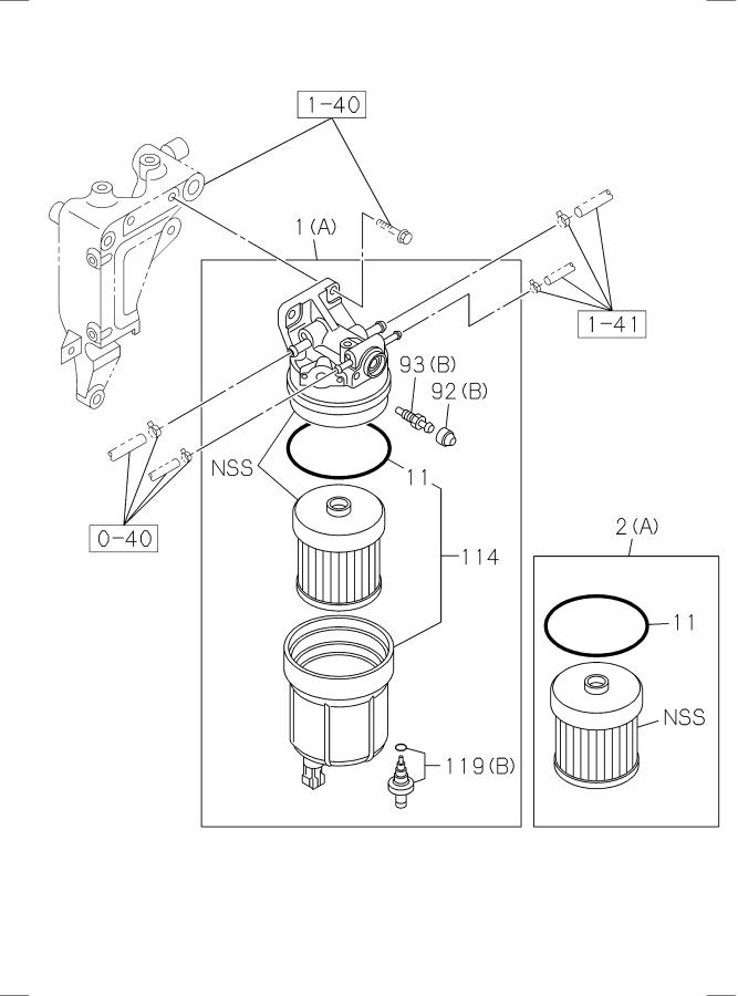 fuel filter and bracket  for 2015 isuzu npr single cab